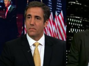 Trump supporter Michael D. Cohen (L) and progressive columnist Michael A. Cohen (R)