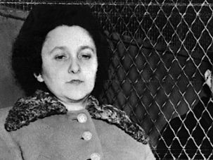 Sentenced to Death: Ethel and Julius Rosenberg in a police van shortly before their execution.