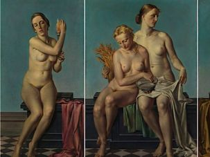A Master of Sorts: Adolf Ziegler's triptych 'The Four Elements' used to hang above Adolf Hitler's mantel.