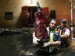 Down Under: In 2005, Hurricane Katrina destroyed more than 7 torah scrolls of the Congregation Beth Israel in New Orleans.