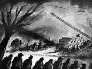 Funeral In The Terezin Ghetto –Bedrich Fritta
