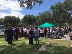Aaron Rajman's funeral near Boca Raton, FL.