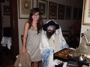 Meet the Rabbi: The author and a new acquaintance.
