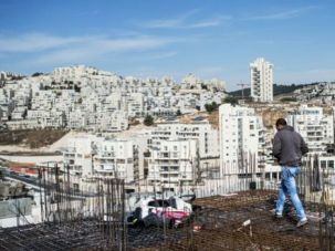 Expanding: Overview of construction site of Israeli settlement 'Har-Homa' on October 28 in Jerusalem, Israel. The Israeli government has approved 1000 new homes to be build in East Jerusalem neighborhoods.