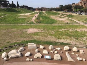 Remains of the second Arch of Titus in Rome.