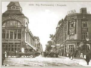 a 1918 postcard of Lodz.