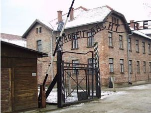 Two Turkish students were detained for performing a Nazi salute in front of the gate to Auschwitz.