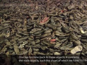 A screenshot from the Auschwitz-Birkenau State Museum's 70th anniversary documentary.