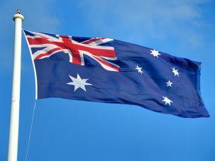 The flag of Australia.