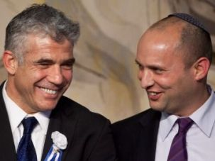 ?Brothers? Yair Lapid (left) and Naftali Bennett