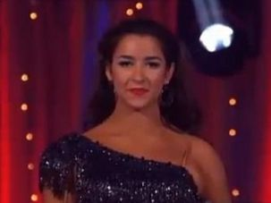 Aly Raisman prepares to dane the Cha Cha Cha on this week?s ?Dancing With The Stars.?