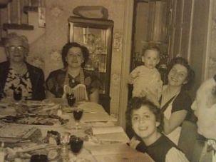 Levinson family seder, 1950.