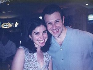 Melissa Langsam Braunstein and her husband at his birthday party in 2003.