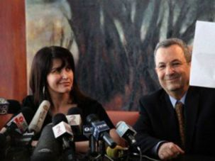 Einat Wilf and Ehud Barak announce defection from Labor Party, January 17, 2011