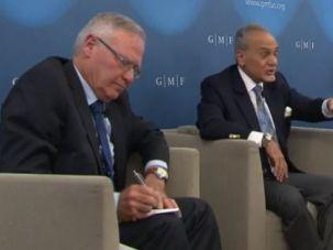 Left to right: Amos Yadlin, Prince Turki al-Faisal, David Ignatius.