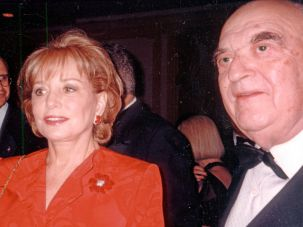 Barbara Walters and George Weidenfeld.