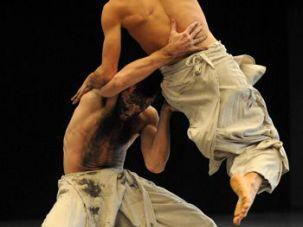 Black Milk of evening: Male dancers of ?Project 5? dancing ?Black Milk.?