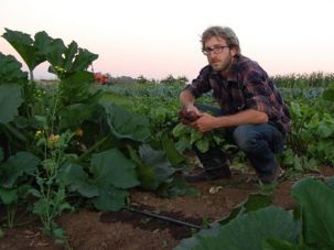 Changing Fields: Ben Harris left journalism and the life he had anticipated to become a farmer.