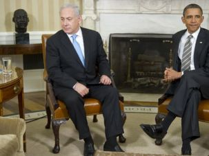 Eye to Eye: Obama and Netanyahu embody two different narratives of the war.