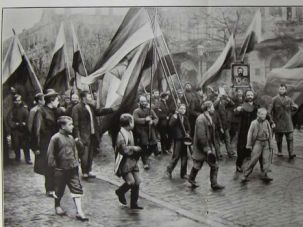 Ignominious Return: The ultra-nationalist, anti-Semitic Black Hundreds, here marching in Odessa in 1905, are back again.