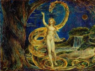 ?Eve Tempted by the Serpent? by William Blake.