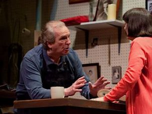 Danny Aiello tells Alma Cuervo he can?t fix her shoes in ?The Shoemaker.?