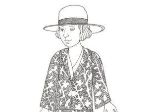 Alice B. Toklas, the paper doll.