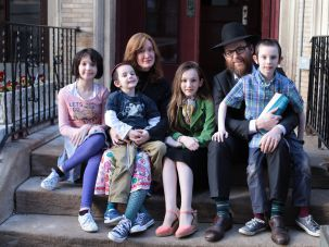 Keren Blum with her family at their home in Manhattan.