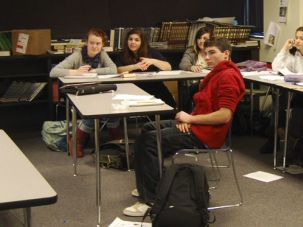 Lots of Ideas: Students in class at the Gann Accademy in sub- urban Boston, which just received a $12.25 million gift.