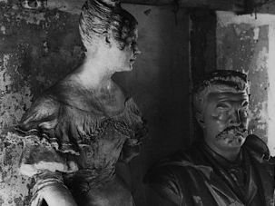 Turned to Stone: Madame Bovary as seen in statue form in Flaubert?s basement.