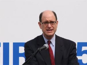 Rep. Brad Sherman, a Democrat from California, announces a $180,000 grant for a community center in his district.