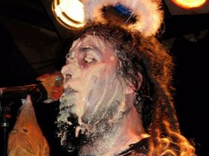 Yidcore singer Bram Presser drenched himself in hummus at the band's farewell show in 2009.