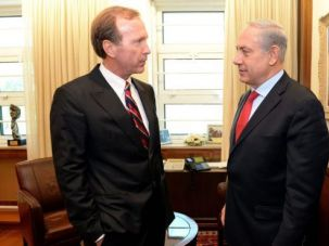 Neil Bush, brother of George W. Bush meets with Prime Minister Benjamin Netanyahu.