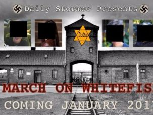 The Neo-Nazi website the Daily Stormer is now calling for an armed march against Jews in Whitefish, Montana.