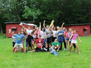 Campers at Camp Shomria in Upstate New York.