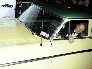 Driving Mr. Uhry: The playwright at an opening night party for the 2010 Broadway revival of ?Driving Miss Daisy.?