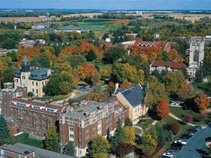An Aerial view of the Carleton College campus