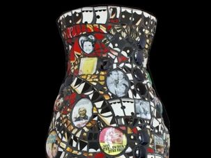 Vase in the Crowd: This is the vase that Sybil Adelman Sage made for Carl Reiner (www.sagemosaicart.com)