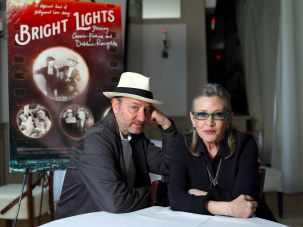 Fisher Stevens, co-director of Bright Lights, with the late Carrie Fisher, May 2016.