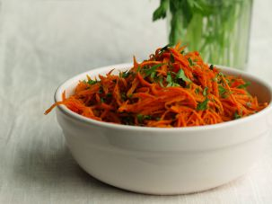 Paris-inspired spicy carrot salad
