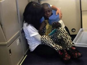 Chabad emissary Rochel Groner comforted an autistic child on a transatlantic flight.