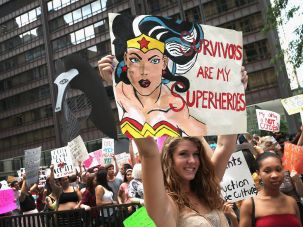 A marcher at the Chicago Slutwalk in 2013.