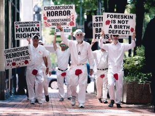 Activists from Bloodstained Men And Their Friends.