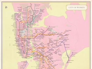 """City of Women"" subway map, courtesy University of California Press"