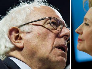 Clinton Sanders Faceoff.
