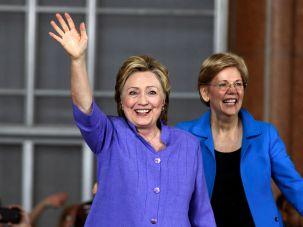 Hillary Clinton (left) and Elizabeth Warren