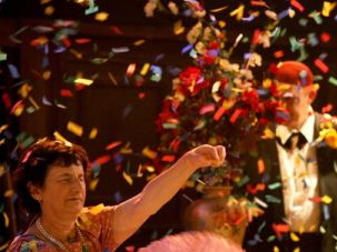 Enjoying the Rethinking of Colored Confetti: What does fluttering color and spectacle mean when the cast is blind?