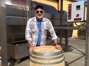 Jeff Morgan of Covenant Winery, waiting for his grapes to make it from Napa to Berkeley during the wildfires.