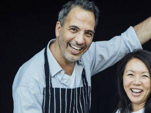 Just Desserts: Yotam Ottoleghi (left) and Helen Goh.