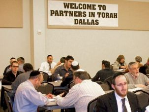 One-on-One Learning: A Torah class at the Dallas center attracts about 50 men and women.